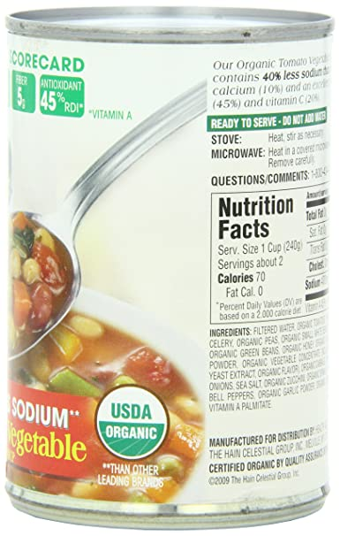 Amazon.com : Health Valley Soup, Tomato Vegetable Fat Free, 15 Ounce Cans (Pack of 12) : Grocery & Gourmet Food
