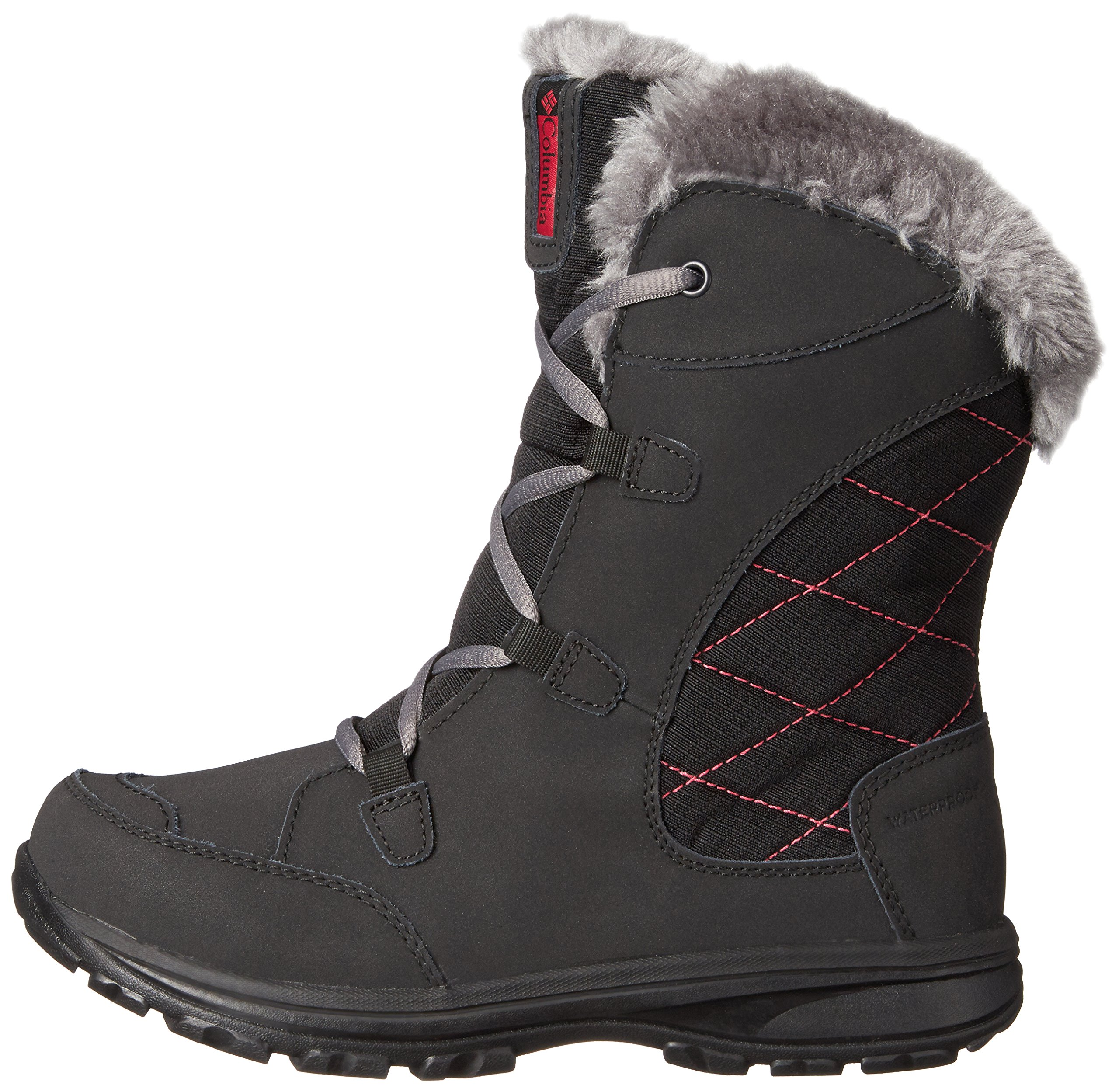 Columbia Youth Ice Maiden Lace Winter Boot (Little Kid/Big Kid), Black, 1 M US Little Kid by Columbia (Image #5)