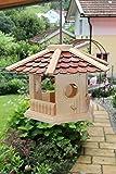 Vogelhaus-Vogelhäuser-(V75)-sechs eck -Vogelfutterhaus Vogelhäuschen-aus Holz-Schreinerarbeit
