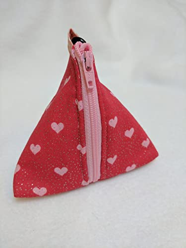 a3864dbf77 Amazon.com: Sparkly Pink Heart Pouch Bag - Small Zip up Purse ...