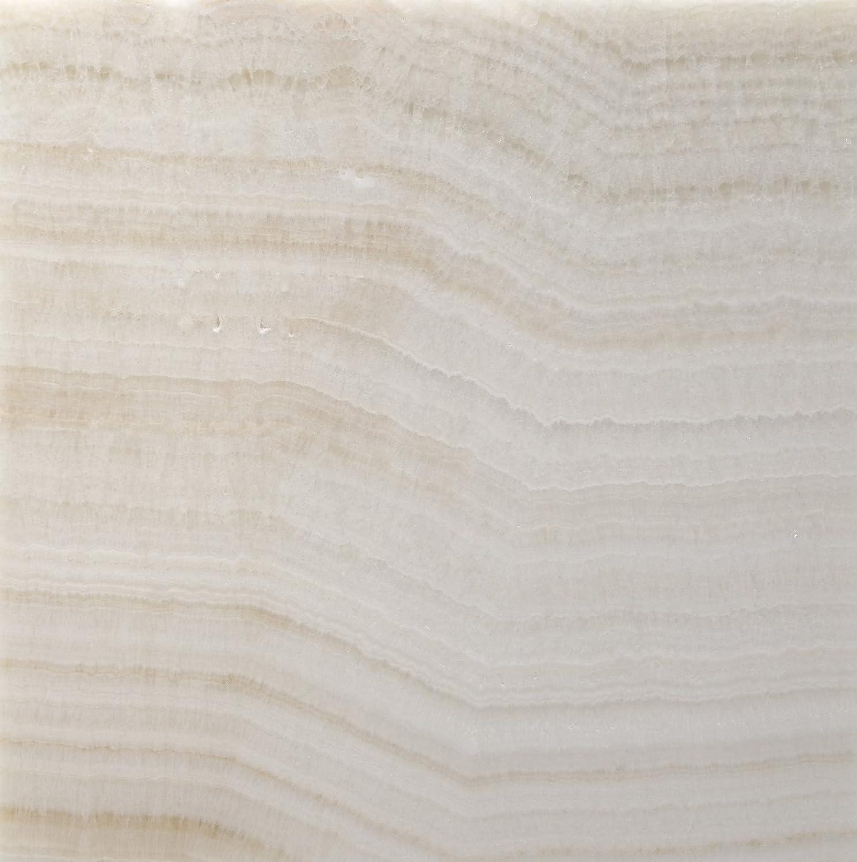 Premium White Onyx VEIN-CUT 12 X 12 Polished Tile - 2 pcs. 3\