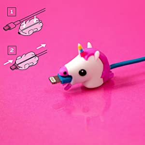 Unicorn Cable Chomper | Cord Protector Animals| Animal Cable Protector | Animal Bite Cable Protector | Cable Protector Animal | USB Cable Protector Animal | Animal Charger Cable Protector |