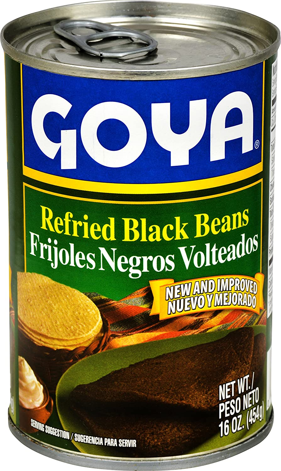 Amazon.com : Goya Foods Refried Black Beans (Frijoles Negros Volteados), 16-Ounce (Pack of 12) : Black Beans Produce : Grocery & Gourmet Food