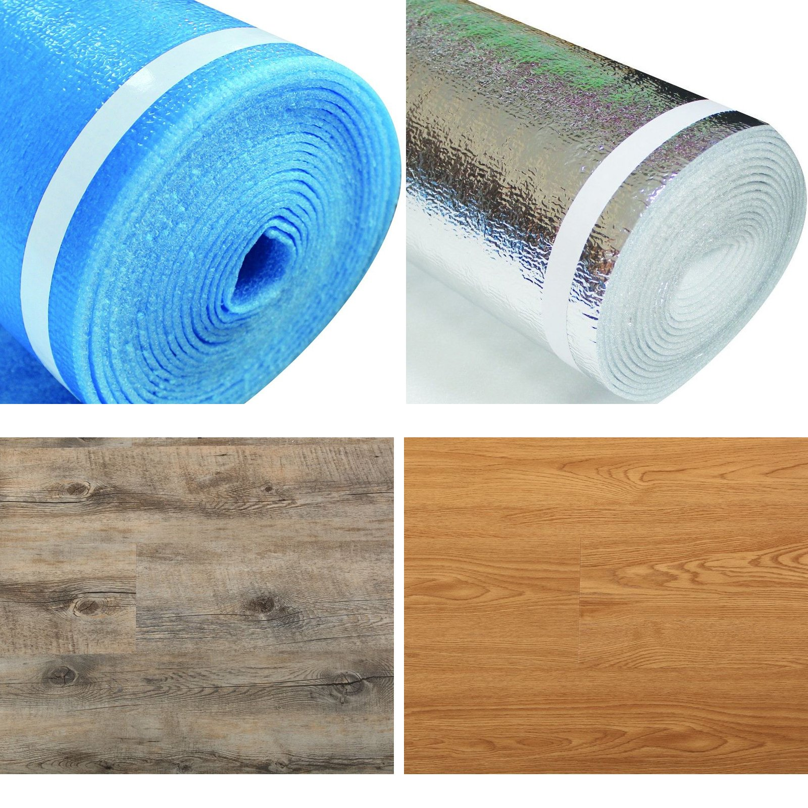 3in1-3mm Thick - 200sqft - Underlayment Foam with self-Sealing Lip and Tape - Laminate,Vinyl,WPC,Bamboo,Engineered Floor