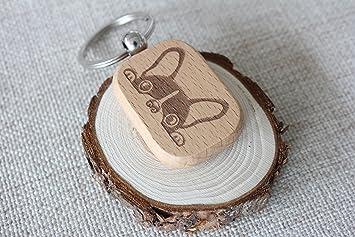 Grabado de madera llavero personalizado de su texto madera ...