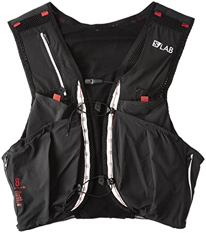 new style a3d7d 3e485 Salomon Unisex S-Lab Sense Ultra 8 Set Backpack, Black, Racing Red,