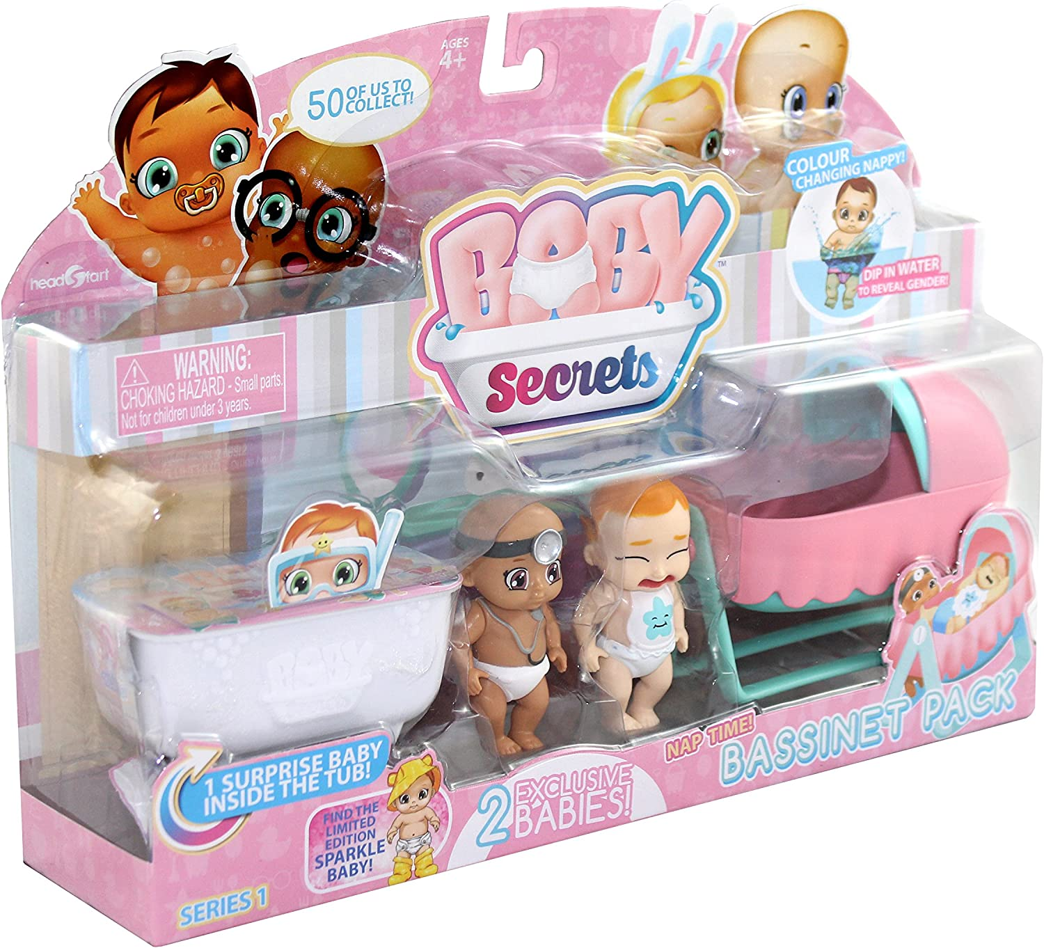 Secret Baby/ /Rocking Horse//Cot//Crib or High Chair /30856/ with 1/Mystery Pack of 3 Random Model