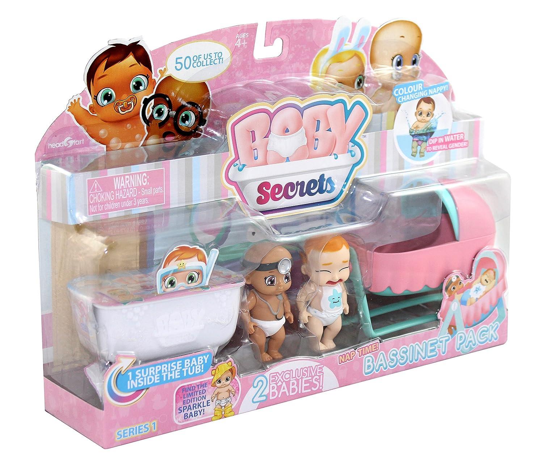 - Mod/èle Al/éatoire 30856 Pack de 3 dont 1 Myst/ère Cheval /à Bascule // Landau // Berceau ou Chaise Haute Baby Secrets