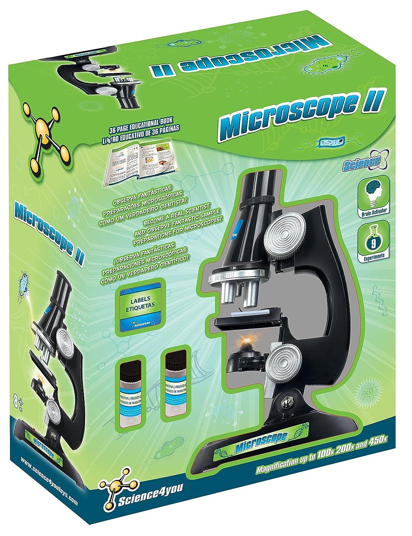 Microscopio de Juguete Science4you con 9 experimentos