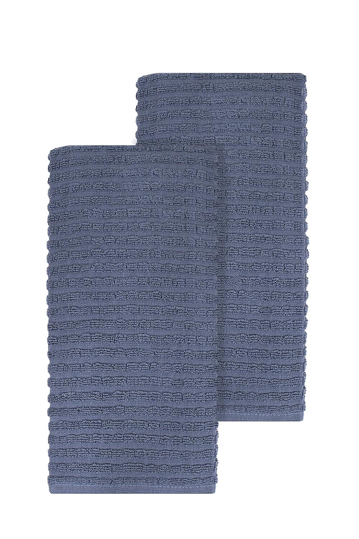 Ritz 012987 Royale Collection Solid Kitchen Towel Set, 2-Piece, Black