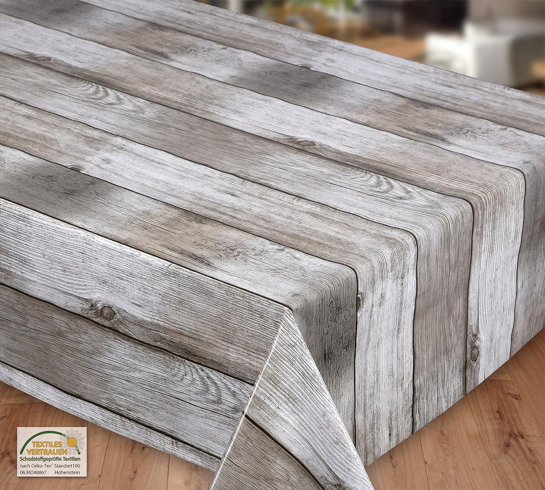 Wachstuch Wachstuch Wachstuch Tischdecke abwischbar rutschfest Meterware, glatt Holz beige, Größe wählbar (eckig 1000 x 140 cm) ec4657