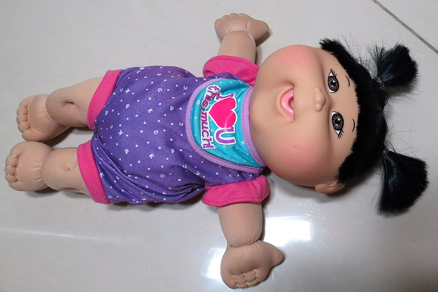 Amazon.com: Cabbage Patch Kids Fun to Feed Asian Baby Girl; Brown Hair and  Brown Eyes, Celebrating 30 Years Doll: Toys & Games