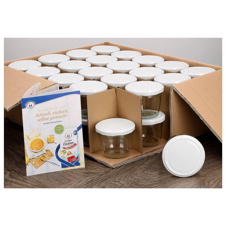 25 Sturzgläser 230ml hoch Obst Dekor Einmachglas Marmeladengläser Einweck Gläser