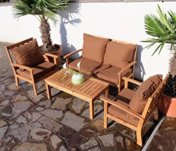 gartenm bel set lounge holz. Black Bedroom Furniture Sets. Home Design Ideas