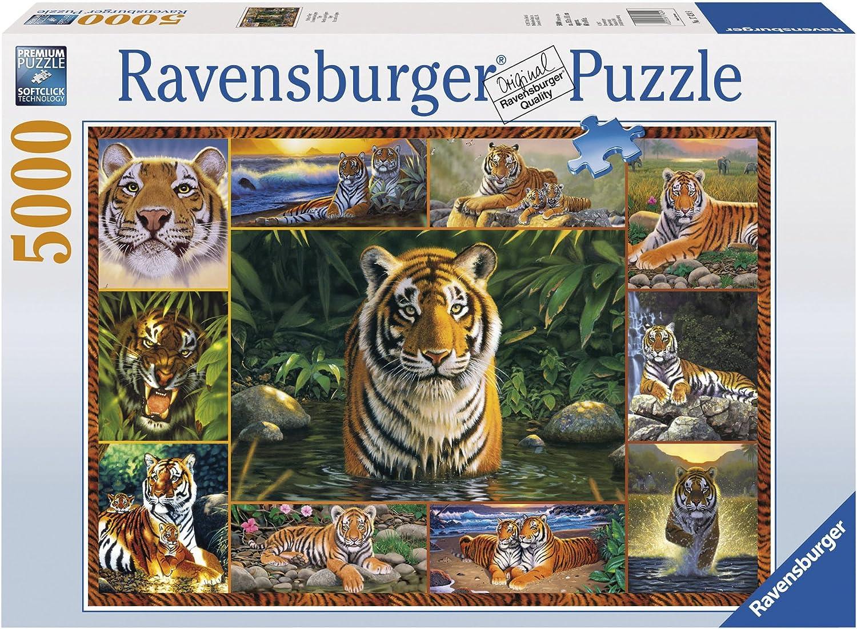 Ravensburger Puzzle 5000 El Mundo De Los Tigres: Amazon.es: Juguetes y juegos