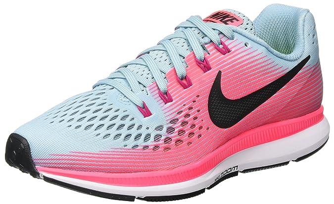 Amazon.com   Nike Womens Air Zoom Pegasus 34 Running Shoe MICA Blue/White-Racer Pink-Sport Fuchsia   Road Running
