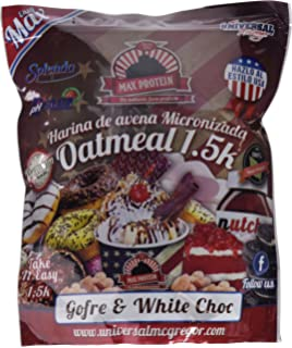 Max Protein Harina de Avena 1,5 kg Gofre y Chocolate Blanco