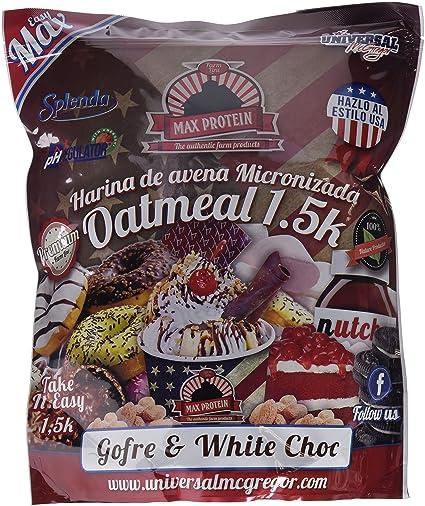 Max Protein Oatmeal Harina de Avena, Termo-Activada - 1500 gr