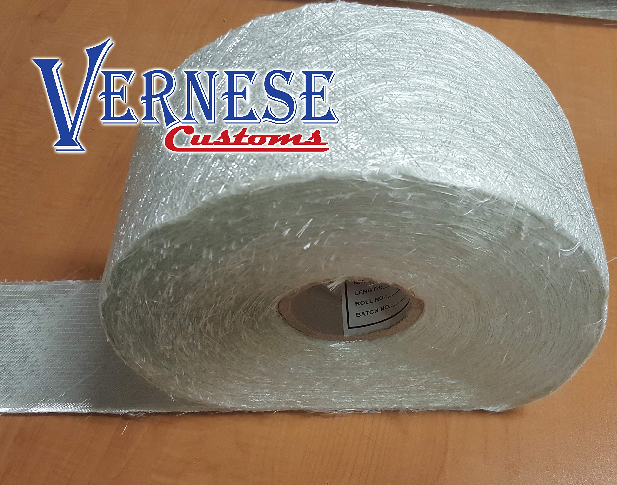 1708 Fiberglass, Double Bias with Mat, 4'' x 85 Yards, Full Roll by Vernese Customs
