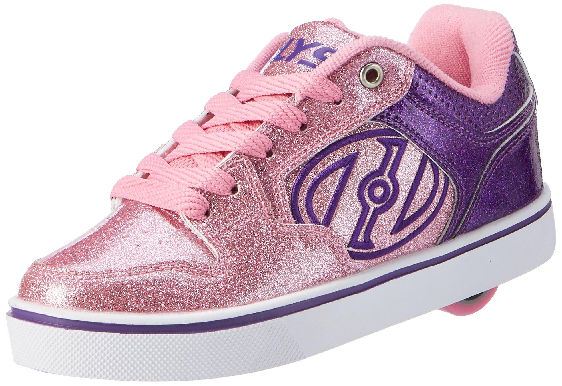 Heelys Unisex Motion Plus Little Kid Big Kid Adult Purple Pink Glitter 4 M Us Big Kid