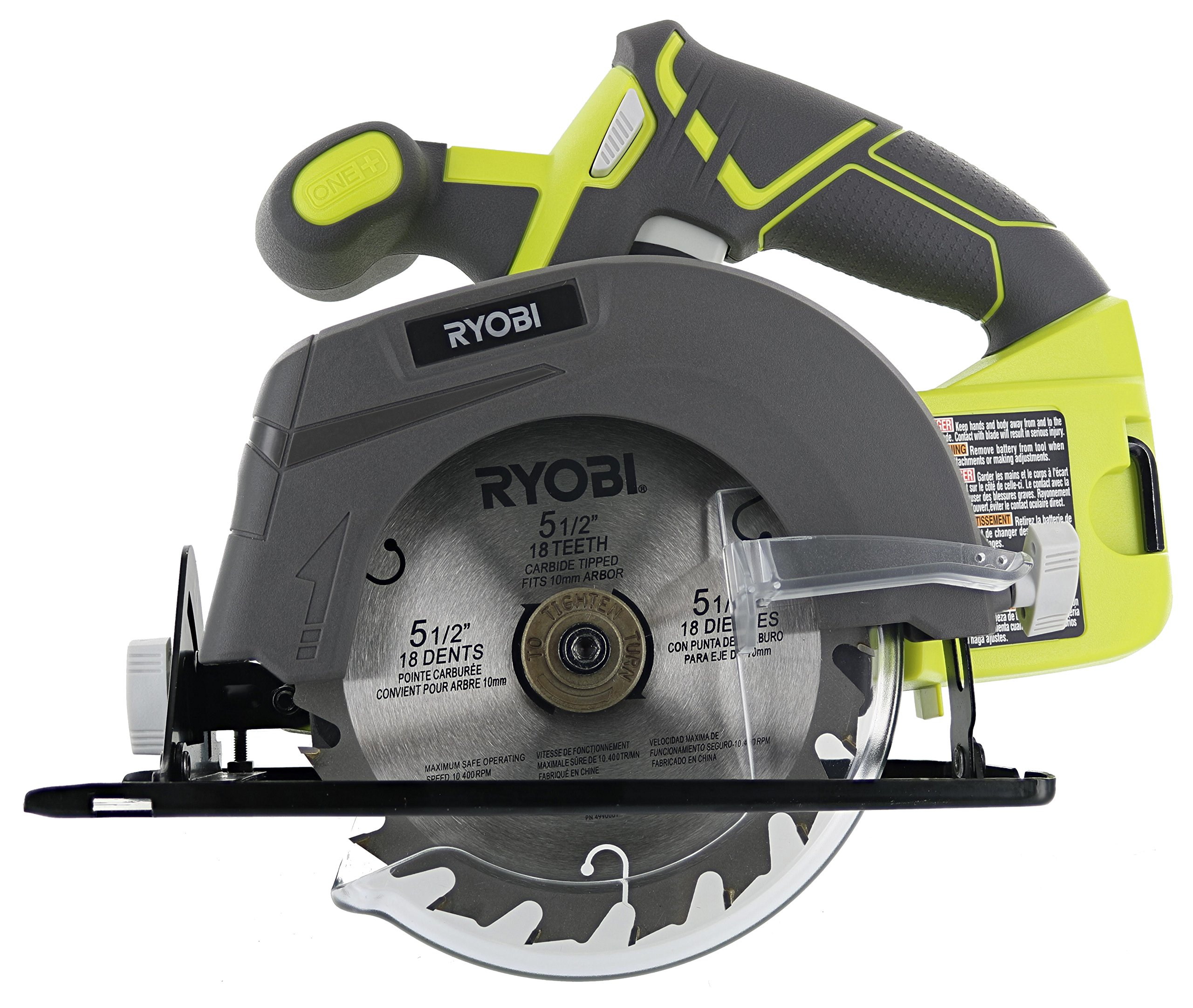 Ryobi One+ P505 18V Lithium Ion Cordless 5-1/2'' 4,700 RPM Circular Saw (Battery Not Included, Power Tool Only)