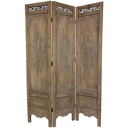 ORIENTAL FURNITURE 6 ft. Tall Antiqued Scrollwork Room Divider - Amazon.com: ORIENTAL FURNITURE 6 Ft. Tall Antiqued Scrollwork Room