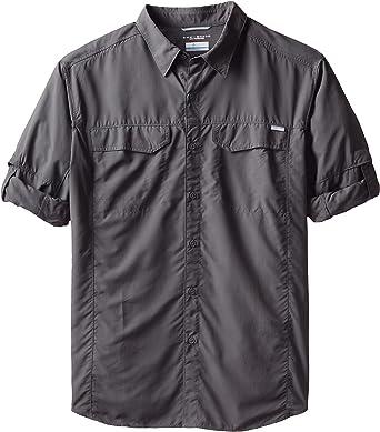 Columbia Sportswear - Camisa de Manga Larga para Hombre, Color Plateado