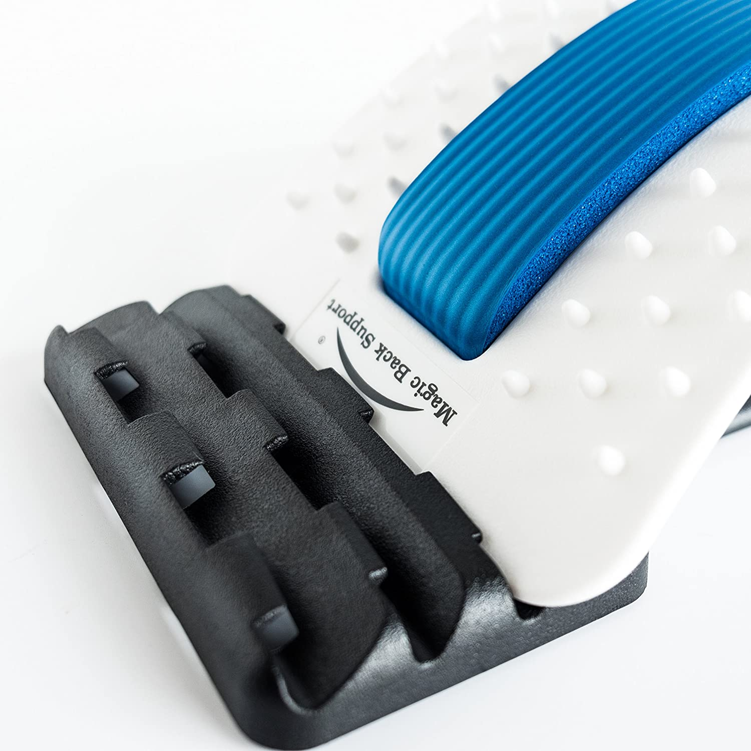 With Accupressure Points Stretcher Device Unique Soft Form Central Support Best Lumbar Support for Chronic Back Pain Relief Lower Back Pain Treatment GentFit/® Multi-Level Back Stretcher
