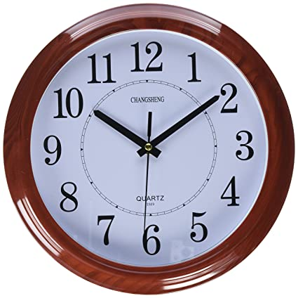 nice design quiet wall clock. Bekith Classic Clock Quiet Sweep Wooden Pattern 13 Inch Wall Amazon com