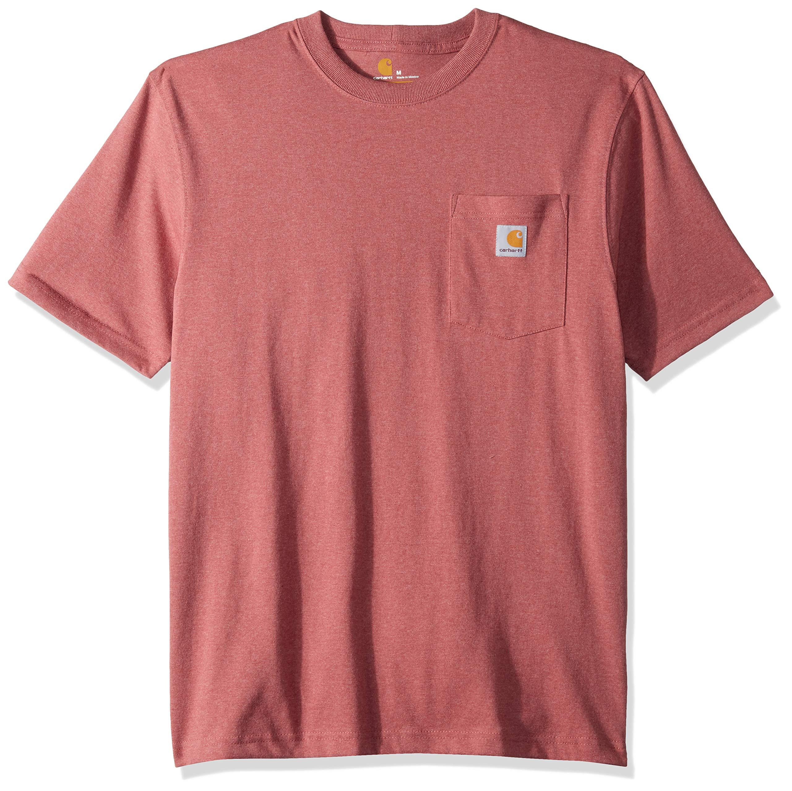 Carhartt Men's K87 Workwear Pocket Short Sleeve T-Shirt (Regular and Big & Tall Sizes), Brick dust heather, X-Large by Carhartt