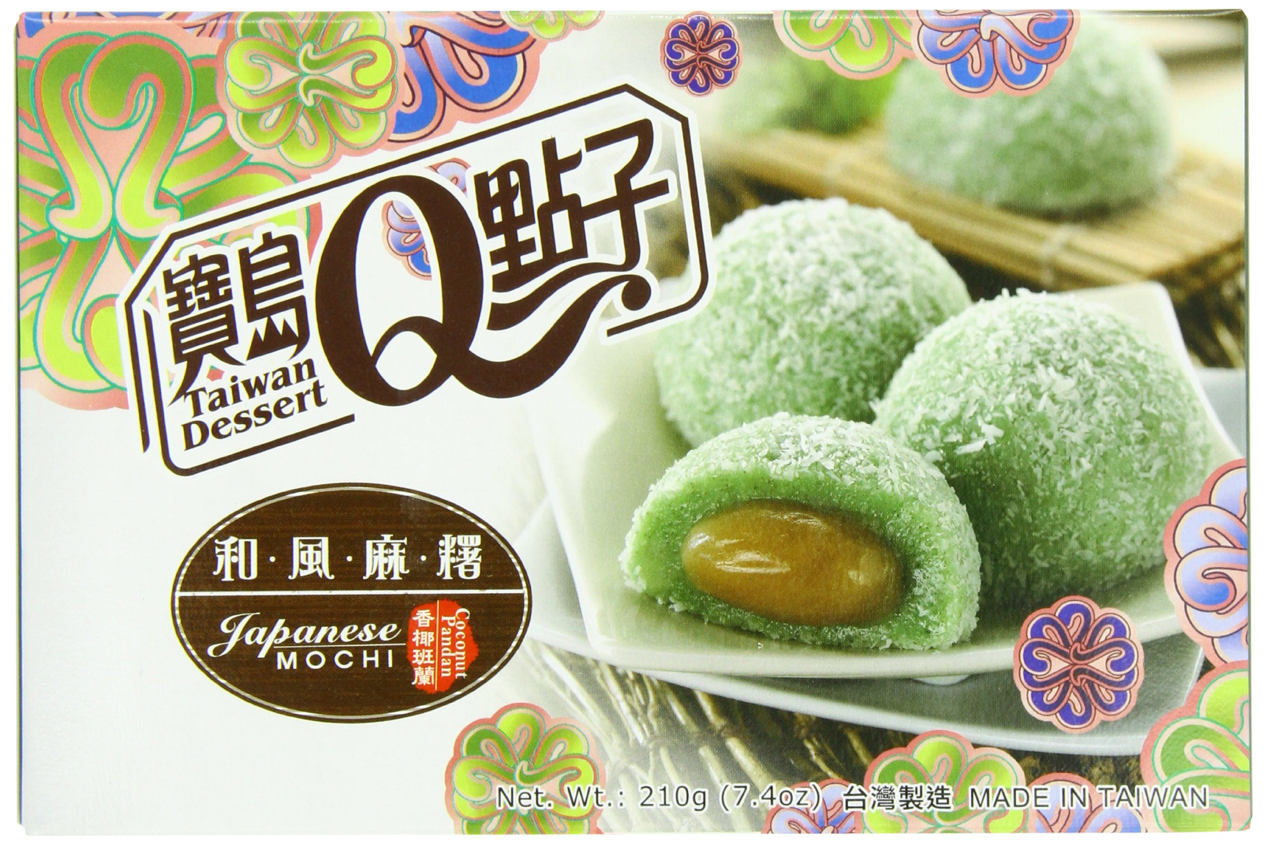 Royal Family Japanese Rice Cake Mochi, Coconut Pandan, 7.41 Ounce (Pack of 24) by Royal Family