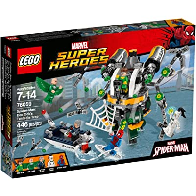 LEGO Marvel Super Heroes Spider-Man: Doc Ock's Tentacle Trap 76059: Toys & Games