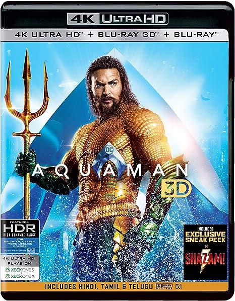 Amazon in: Buy Aquaman (4K UHD + Blu-ray 3D + Blu-ray) (3