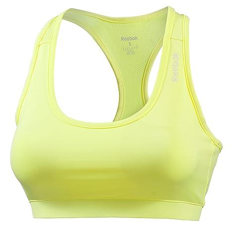 Reebok Sujetador Deportivo para Mujer Amarillo Amarillo Talla:L