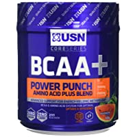 USN BCAA Power Punch Amino Acid Plus Blend, Watermelon, 400 g