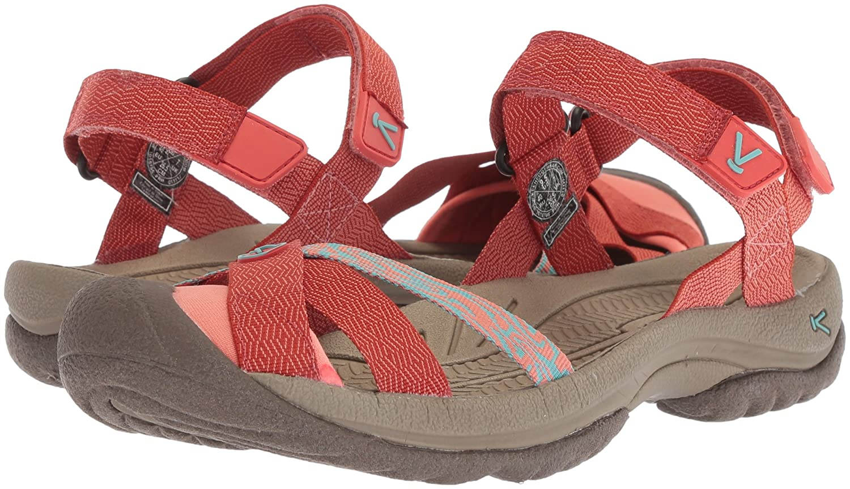 KEEN Women's Bali Strap Sandal B072281KFK 5.5 B(M) US|Summer Fig/Crabapple