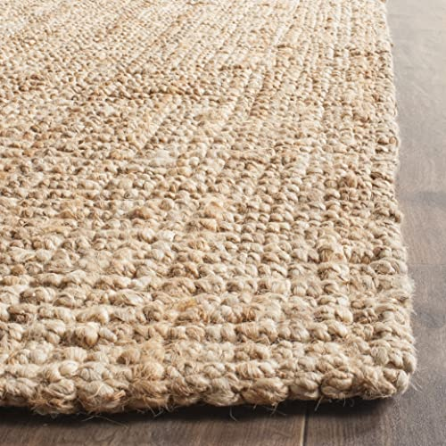 Safavieh Natural Fiber Collection NF447A Hand-woven Chunky Textured Jute Area Rug