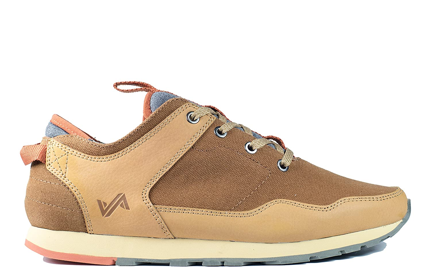 Forsake Lewis - Men's Casual Leather/Canvas Sneaker 9 M US|Tan