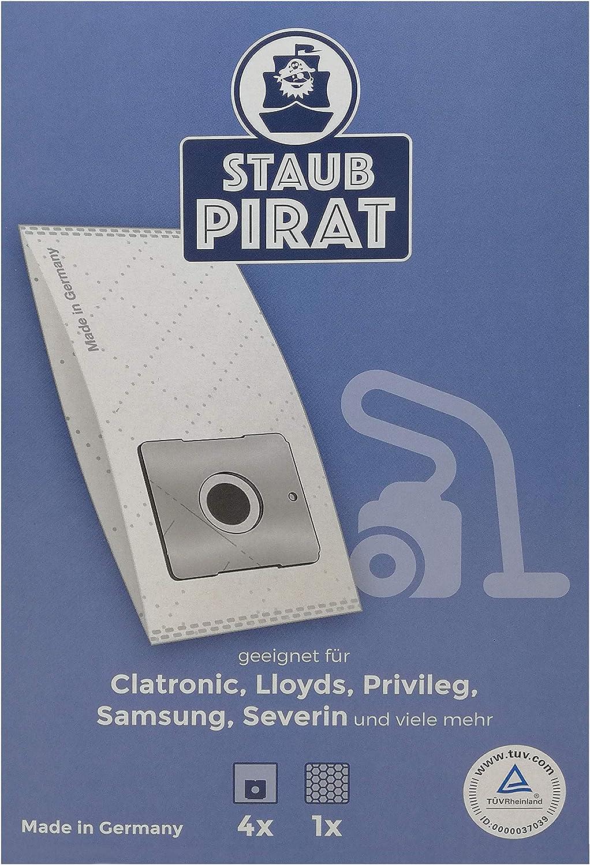 Staub Pirat - Bolsas para aspiradoras Clatronic BS, Fakir Prestige, Menalux 4000, Samsung s, Swirl y, 4 unidades: Amazon.es: Hogar