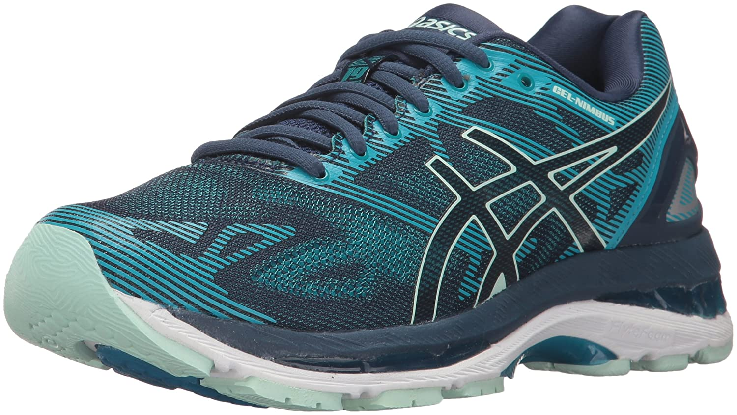 ASICS Women's Gel-Nimbus 19 Running Shoe B01N8SXTFN 7.5 B(M) US|Insignia Blue/Glacier Sea/Crystal Blue