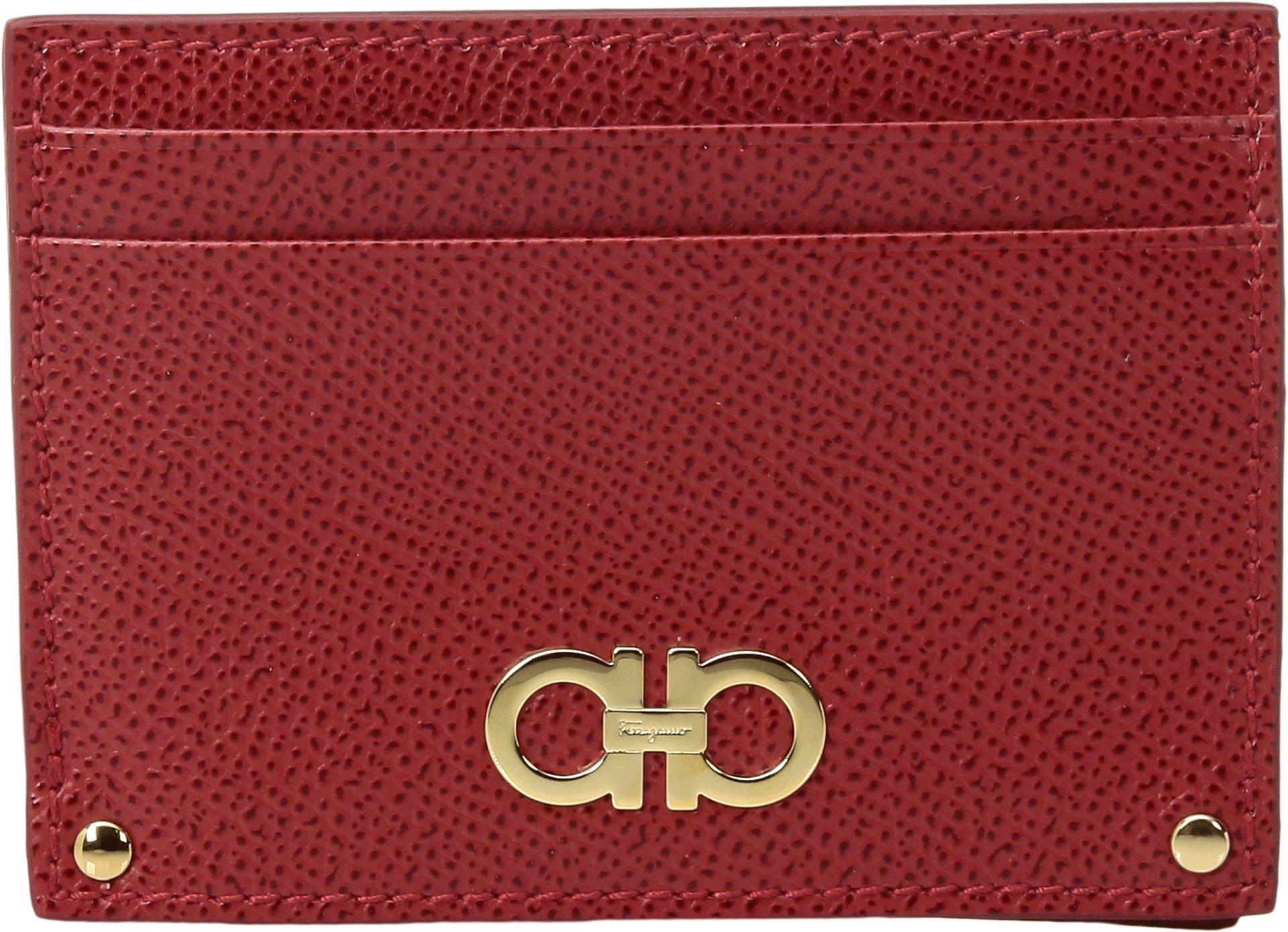 Salvatore Ferragamo Women's Gancini Card Holder, Lipstick, One Size
