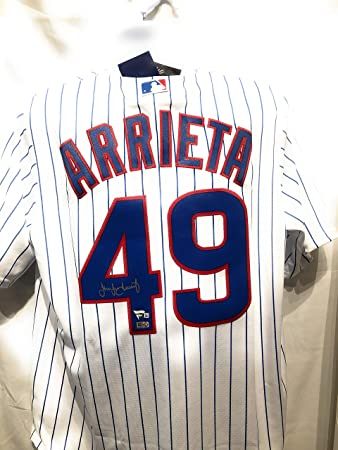 Jake Arrieta Chicago Cubs Signed Autograph MLB Majestic Jersey Fanatics  Authentic Certified 03dd019ec