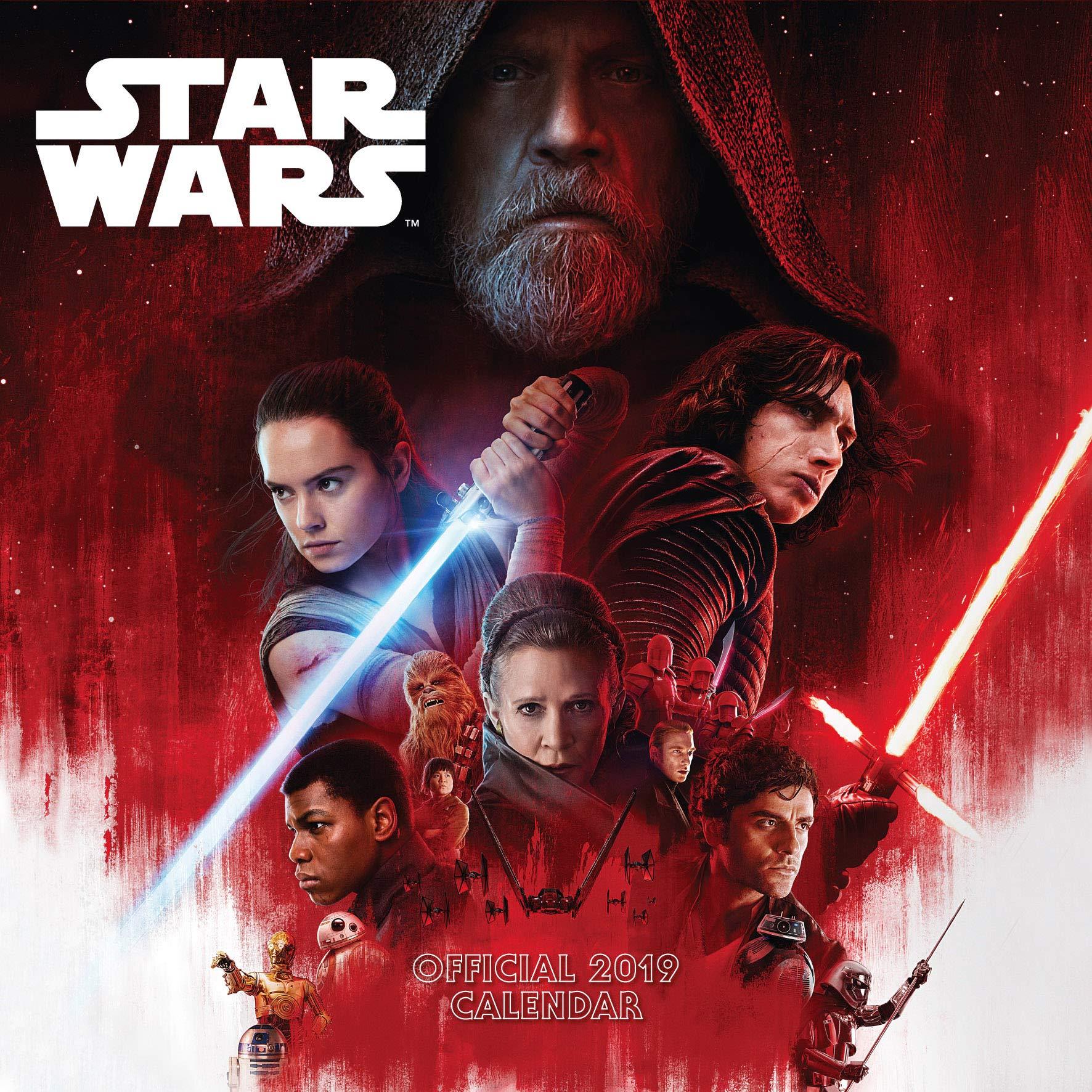 Star Wars: Episode 8 The Last Jedi Official 2019 Calendar - Square Wall Calendar Format Calendar – Wall Calendar, 20 Sep 2018 Danilo 1785496662 Unclassifiable: WZ BIC Address Books