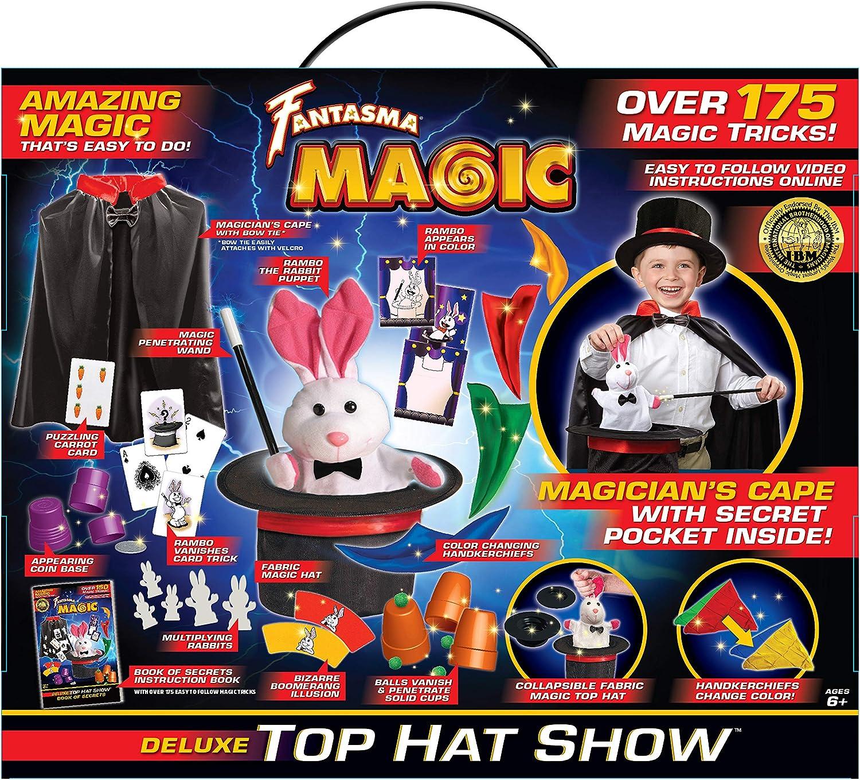 423EUD Fantasma Deluxe Top Hat Show Magic Set-175 Tricks