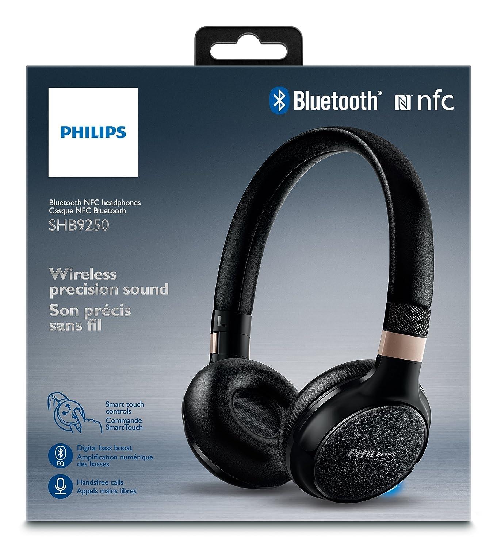 Philips SHB9350/00 - Auriculares (Alámbrico, Diadema, Binaural, Supraaural, 8-23500 Hz, Negro): Amazon.es: Electrónica