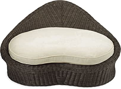 Gaiam Rattan Meditation Chair with Thick Natural Cotton Meditation Cushion Pillow, Sustainable Kapok Filling