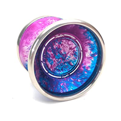 YoYoFactory Shutter BiMetal with Royalty Yoyo Color Galaxy with Silver Ring: Toys & Games