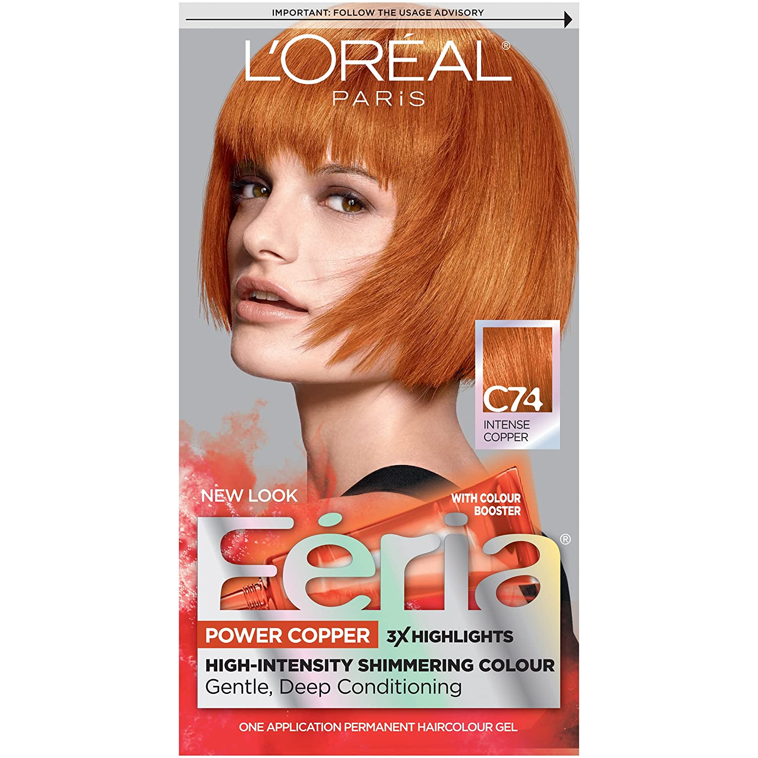 Feria Hair Color C74 Intense Copper Packaging May Vary Amazon