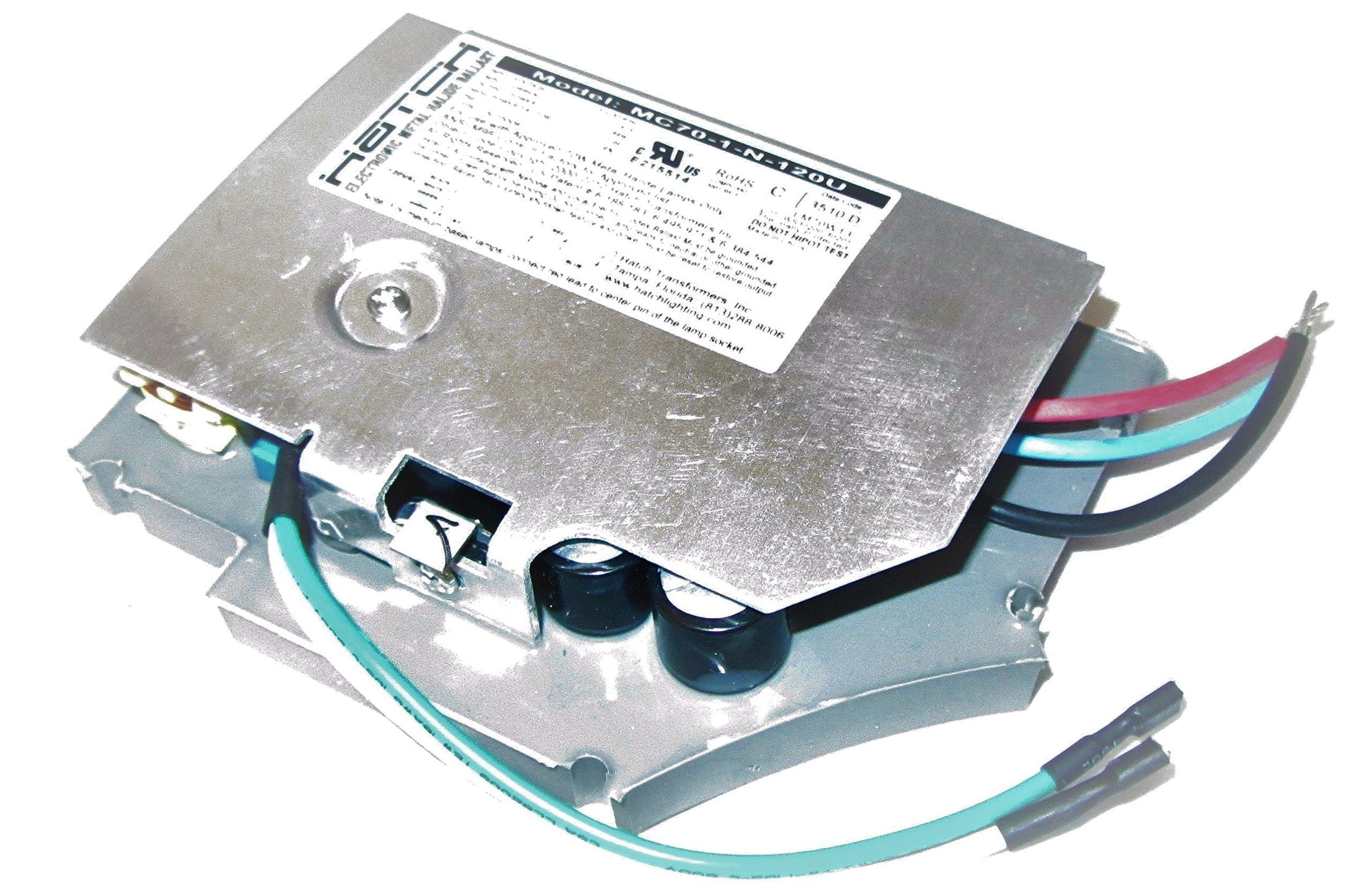 HATCH MC70-1-N-120U 70W 120V Electronic Metal Halide Ballast ANSI-M98 120 Volt 50/60Hz