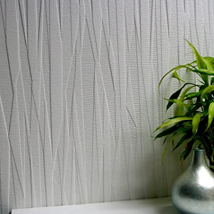 Superbe Brewster 437 RD80028 Folded Paper Textured White Paintable Wallpaper      Amazon.com